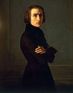 Liszt - portrait by Henri Lehmann