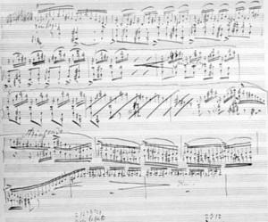 Liszt's Sonata - manuscript