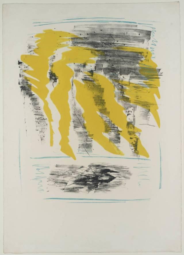 ... Ce qu'a Vu le Vent d'Ouest 1959 by Ceri Richards 1903-1971