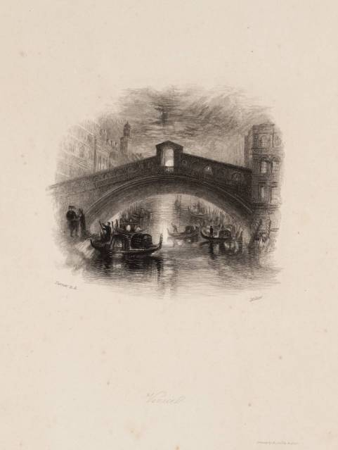 Venice, engraved by W. Miller published 1834 by Joseph Mallord William Turner 1775-1851
