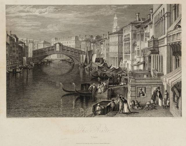The Rialto, Venice, engraved by J. Pye published 1820 by Joseph Mallord William Turner 1775-1851