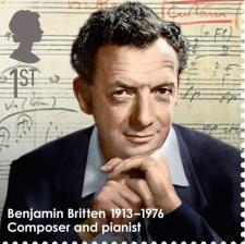 Britten - first-class stamp