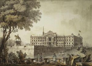 View of St Michael's Castle. St Petersburg, 1801