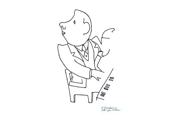 Poulenc in a sketch by Jean Cocteau