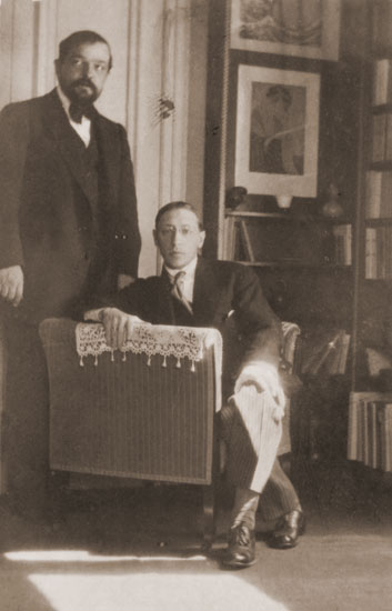 Debussy and Stravinsky, photographed by Satie