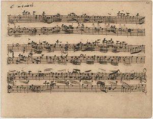 Bach Minuet manuscript