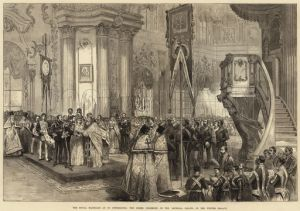 The Royal Marriage at St Petersburg, the Greek Ceremony, in the Imperial Chapel of the Winter Palace